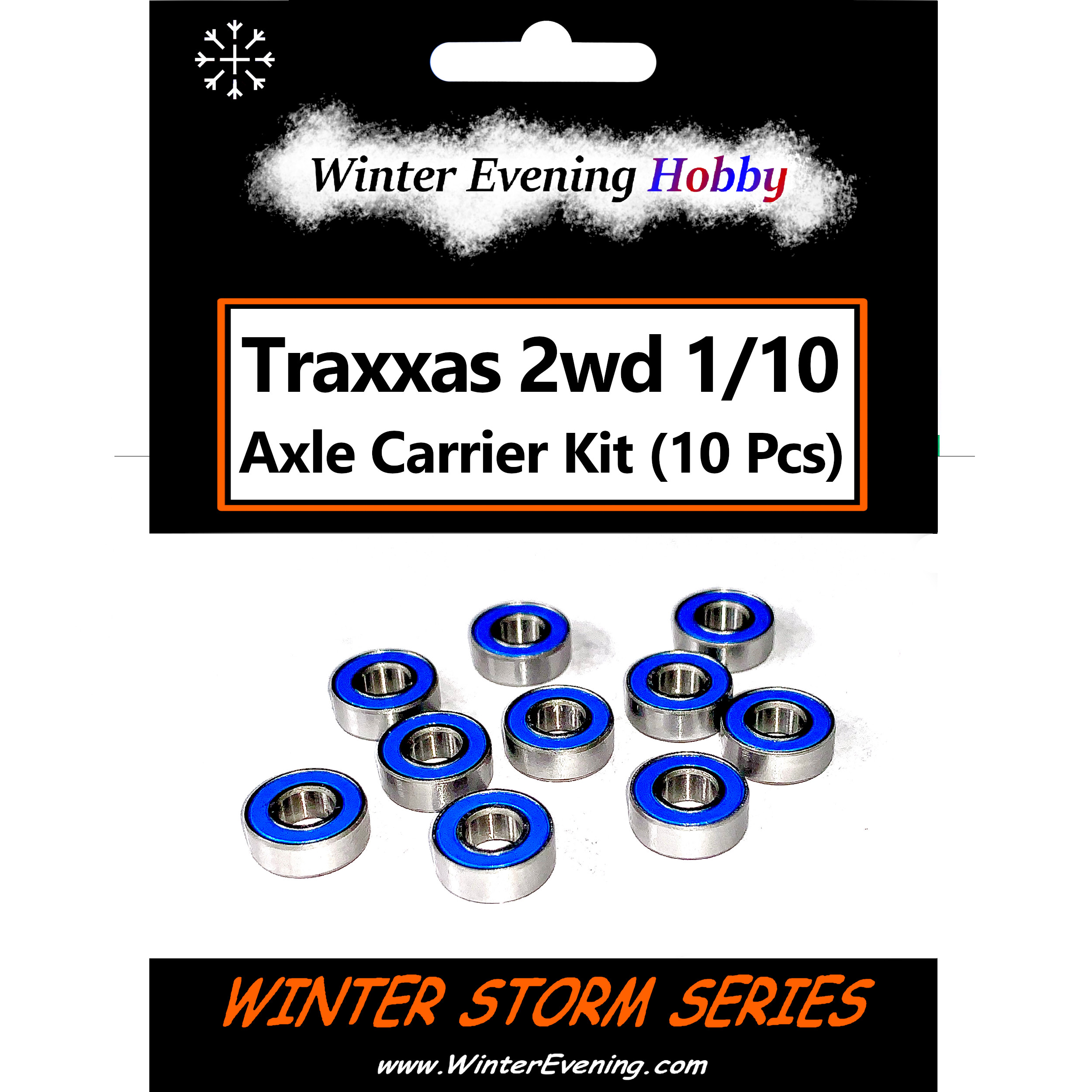 Stampede Rustler 10 Pcs Bearing Kit Traxxas 1//10 2wd Axle Carriers Slash